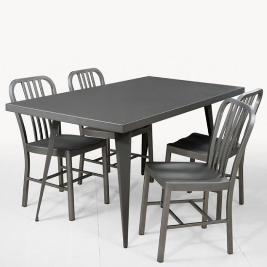 New Designer Metal Tolix Table And Chair Outdoor Dining Set (FS 14041)