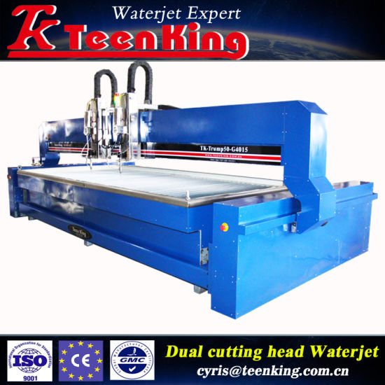 China New Designed Color of CNC Waterjet Cutting Machine with Double