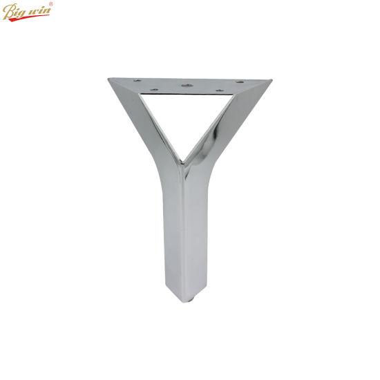 China Contemporary Triangle Chrome Metal Furniture Sofa Legs ...