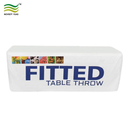 China Fast Delivery Custom Printed Fitted Table Covers For Promotion