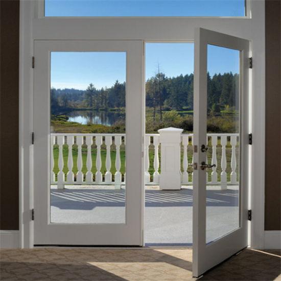 China Factory Price Low E Glass Exterior Door Aluminum Double Swing