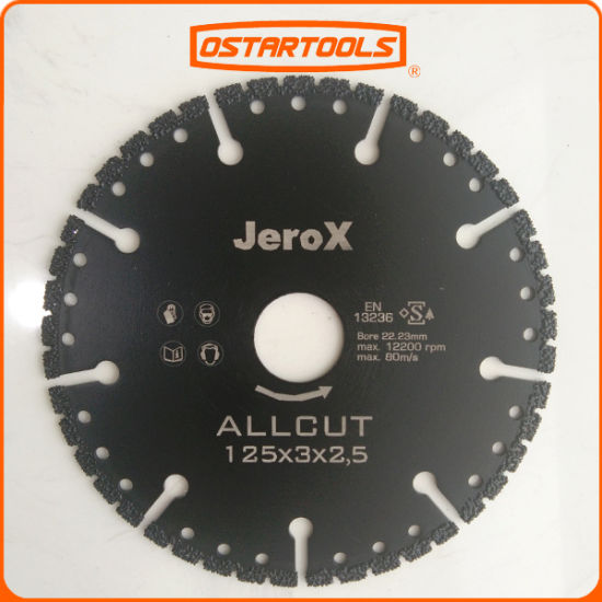 Vacuum Brazed Diamond Multi Purpose Cutting Blade