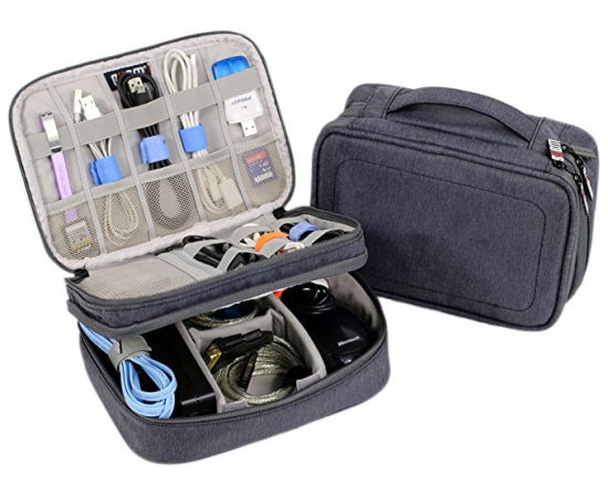 23625fe2a66d Electronics Organizer Travel Bag Accessories Cable Cord Gadget Gear Storage