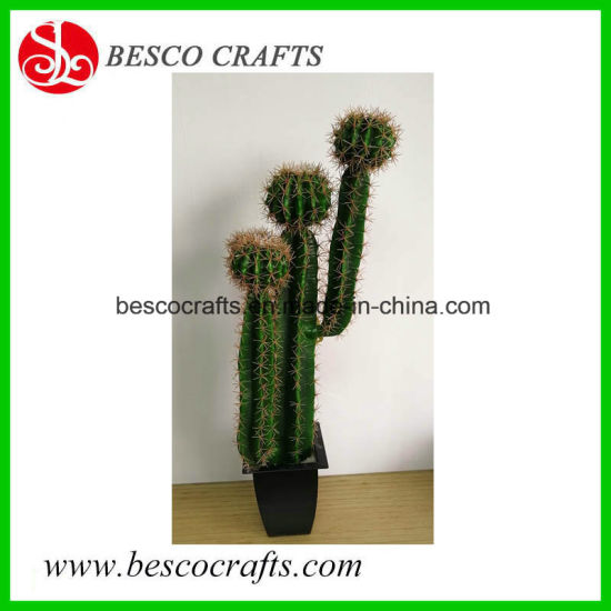 86cm High Artificial Big Size Potted Plant Cactus in Plastic Pot pictures & photos