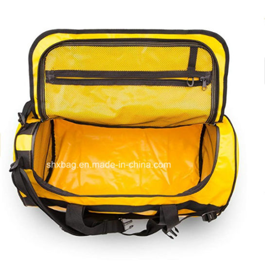 d393e4ce99 Waterproof Tarpaulin Duffel Bag with Backpack Straps for Gymtravels