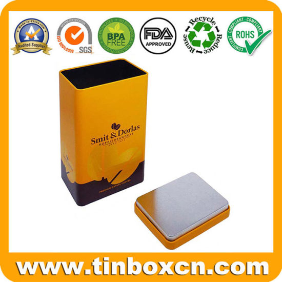 High Quality Low Price Rectangular Metal Coffee Tin Box with Flush Appearance for Chocolate Tea pictures & photos