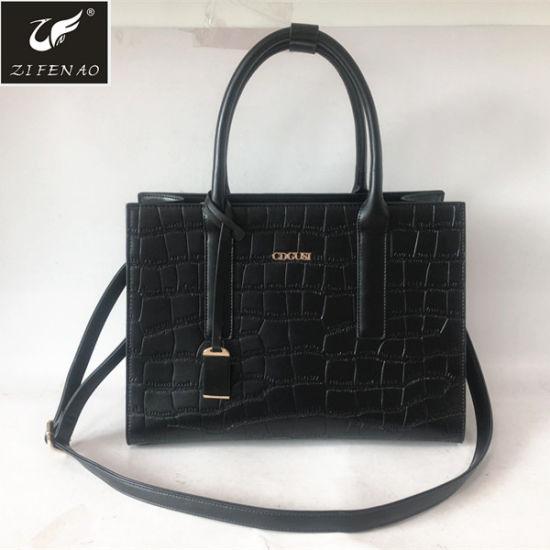 dc20b90eb244 2018 Hot Sale Fashion Women Handbags Lady PU Leather Tote Bag with Custom  Logo