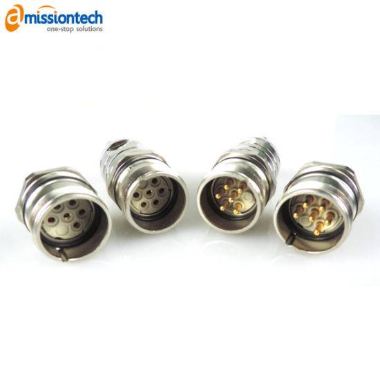 Brass Electrical Magnetic Connector Assembly with Cable