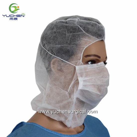 61815ae3b24 China Medical Nonwoven Disposable Surgical Hood with Face Mask ...