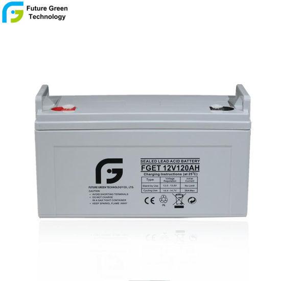 12V120ah SLA Rechargeable Deep Cycle Battery for Panels