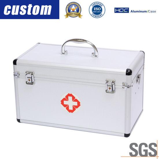 Portable Multifunctional Flight Aluminium Alloy Medicine First Aid Box (without Medicine)
