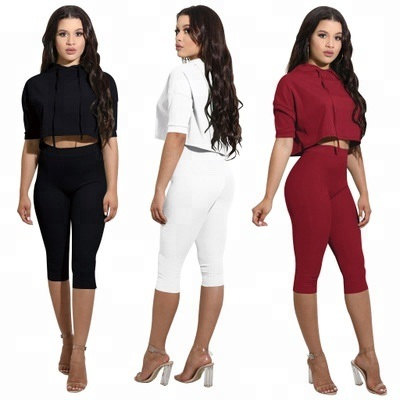 Women Summer Casual 2 Pieces Tracksuit