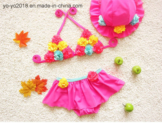 Hot Seller Bikini Children′s Swimsuit Sun Protection Quick Drying Baby Girl pictures & photos