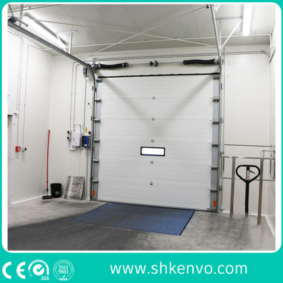 Industrial Thermal Insulated Vertical Roll up Sectional Door for Cold Room or Refrigeration Warehouse