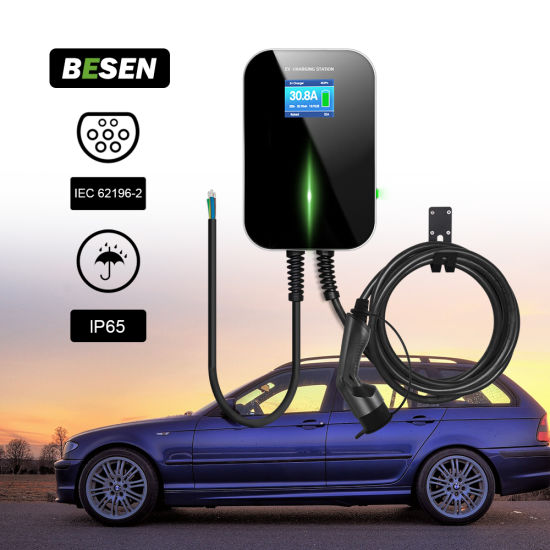 Electric Car Charging Station 32A 7kw with Type 2 Plug