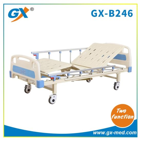 Two Functions Manual Hospital Bed for Patient Nuring Care