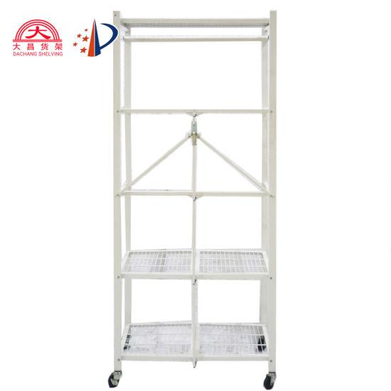 Decoration Shelf Display Folding Corner Wire Storage Rack for Bedroom/Kitchen