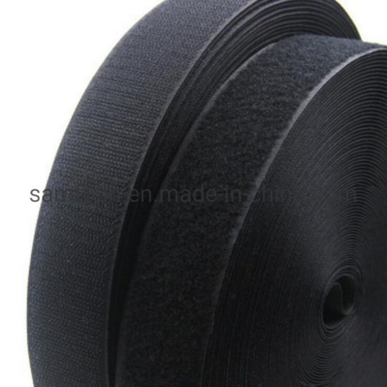 Good Price Hook and Loop Tape with Black and Whtie for Children Shoes