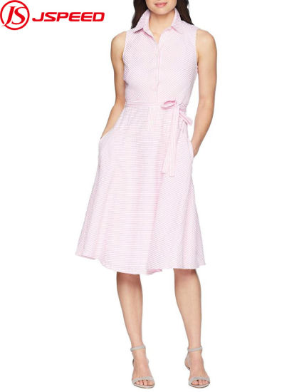 Women Dresses Casual Party Dress Drop Waist Shirt Collar Ladies Fashion Clothing Wholesale