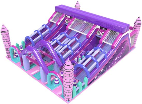 Pink Funland Castle Inflatable Slide Inflatable Toys for Amusement Park pictures & photos