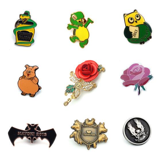 Custom Logo Flower/Animal Metal Lapel Pin Badge No MOQ