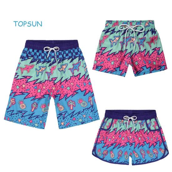Toddler Boy and Girl Summer Family Quick Drying Beach Pants Padded Swimwear Boardshort