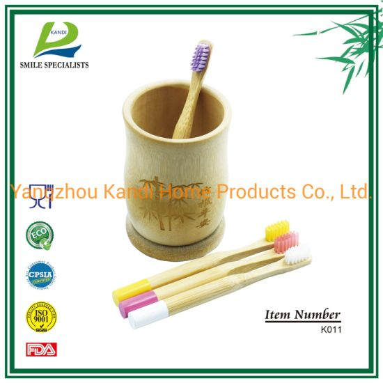 Kids Child Children Biodegrable Bamboo Toothbrush with Engraving Logo