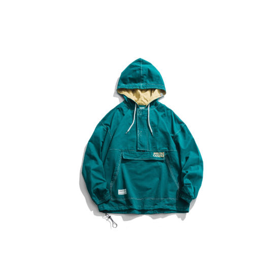 Fashion Adults Autumn Casual Windproof Sports Outwear Active Outdoor Full Zip Coat Mens Lightweight Hooded Jacket