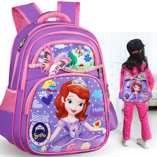 High Quality Wholesale Pink Color Shool Bags for Girl