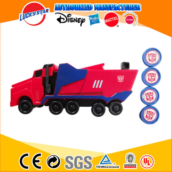 China Maunfacturer Transformer Disc Truck Launcher Disc Blaster Toy for Promotion