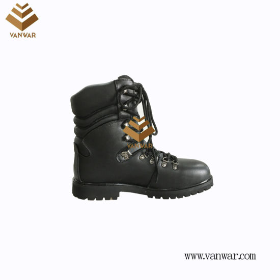 Top Layer Leather Unisex Military Combat Boots of Black with High Quality (WCB062)