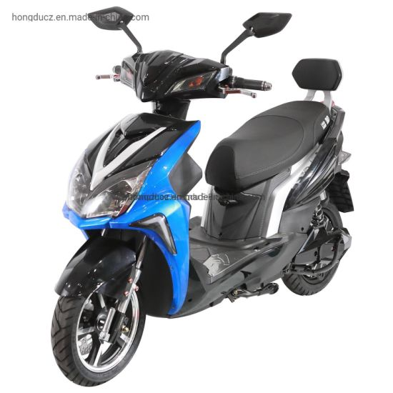 1200W Fast Speed Electric Motorcycle with Front and Rear Disc Brakes