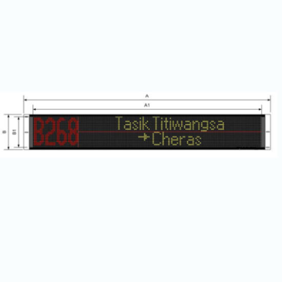 P8*10 SMD Selfinspection Bus Front Destination LED Electronic Display Board pictures & photos