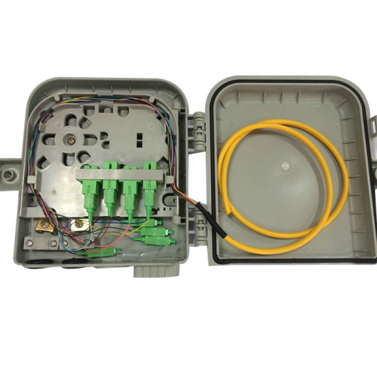 Fiber Wall Outdoor Splice//Distri Panel 6 Core Fiber Optic Terminal FTTH Box