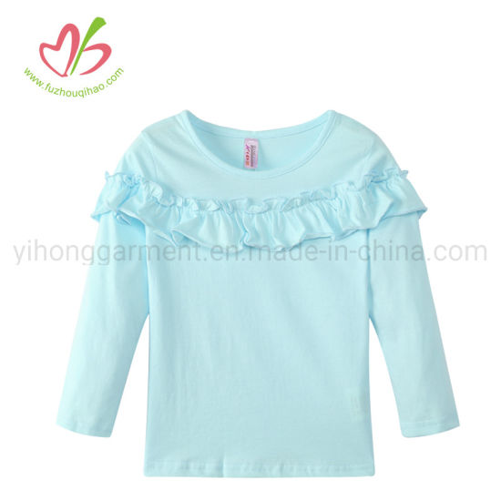 Tiffiny Color Mommy and Me Long Sleeve Ruffle Tops