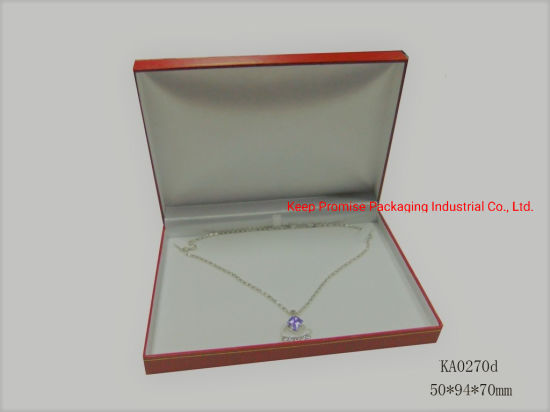 Red Injection Gift Leatherette Paper Pendant Necklace Bracelet Jewelry Box