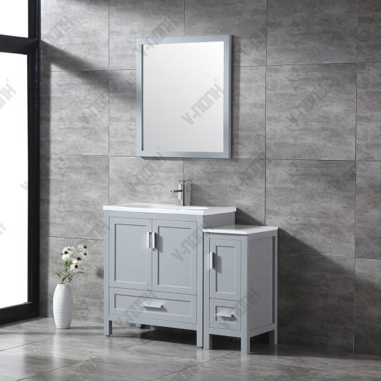 Light Grey 42inch Bathroom Vanity Cabinet China Large Storage Hangzhou Made In China Com