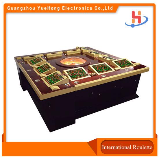 8/12 Players Casino Roulette Machines Touch Screen Double / Single Zero Casino Gambling Roulette Games Machines