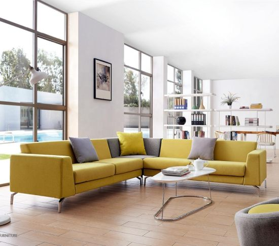 Suede Sofa Leather Lounge Suite and Lobby Fabric Sofa Modular Couch L Shape Sofa Set Modern Frank Furniture Settee