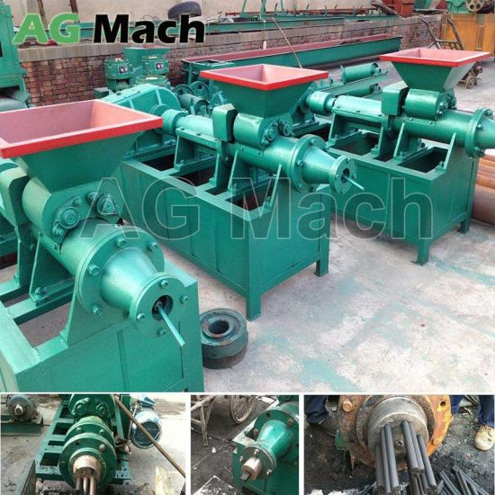 Hydraulic Bamboo Dust Charcoal Sticks Briquette Making Machine
