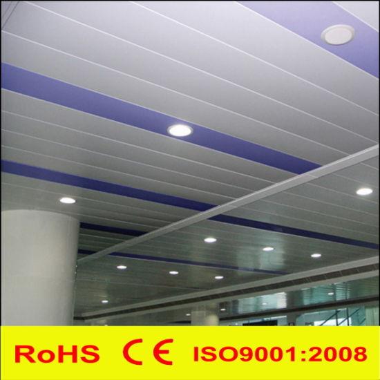 Aluminum Metal H Strip False Suspended Decorative Panel Linear Ceiling