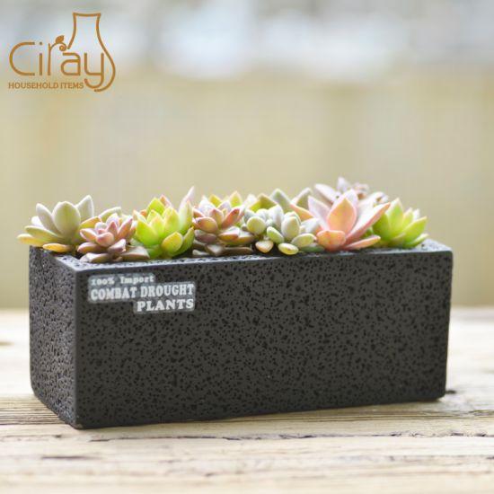 Rectangular Cement Garden Planter for Decoration