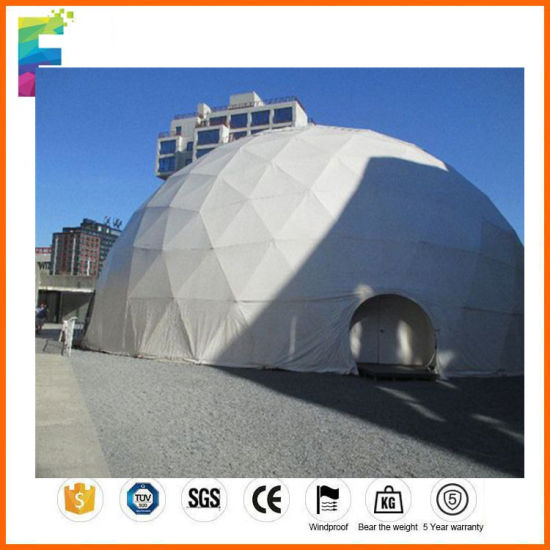 5-60m Steel Geodesic Hlaf Sphere Dome Tent for Event