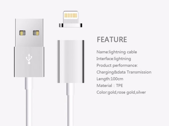 Best Selling Fast Connect Magnetic Charging Cable Magnetic USB Cable for iPhone pictures & photos