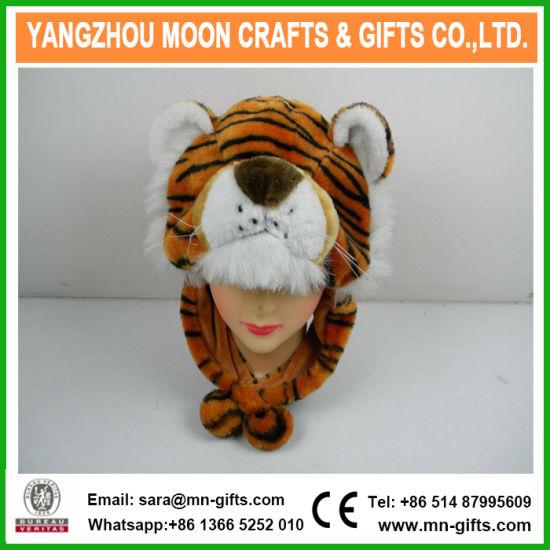 1f2b40aa48e6d0 China Plush Tiger Animal Winter Hat with Earflap - China Plush Hat ...