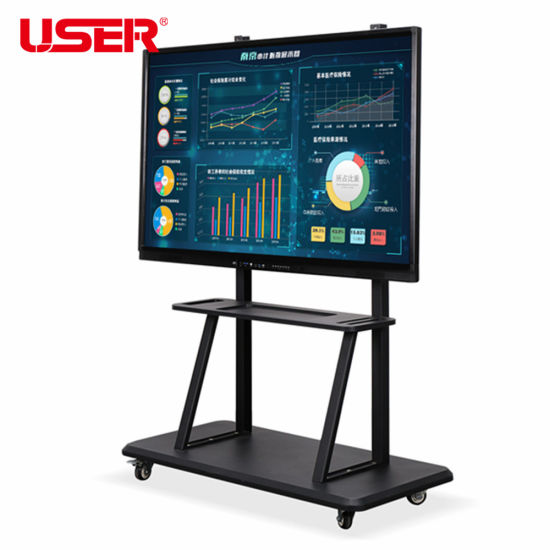 """55, 65, 75, 85, 98"""" LED Smart Whiteboard with USB/WiFi/Bluetooth IR Digital Interactive Whiteboard with OPS PC Built-in Interactive Touchscreen Kiosk"""