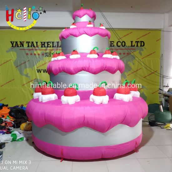 Fine China Lovely Decoration Inflatable Birthday Cake Model China Personalised Birthday Cards Bromeletsinfo