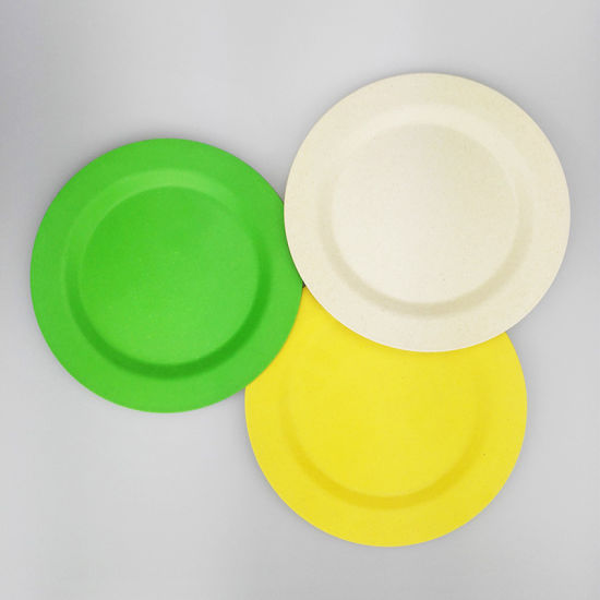 SGS Approved Eco Bamboo Fiber Kitchenwareware Plate (YK-P4007)