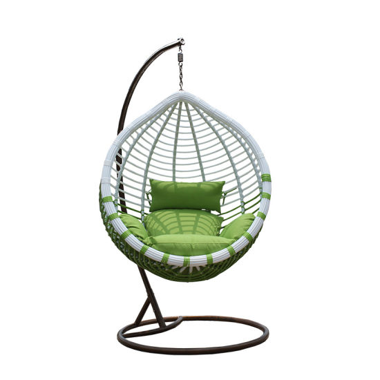 Garden Oreclining Outdoor Swing Chair Egg Shaped Wicker Chairs