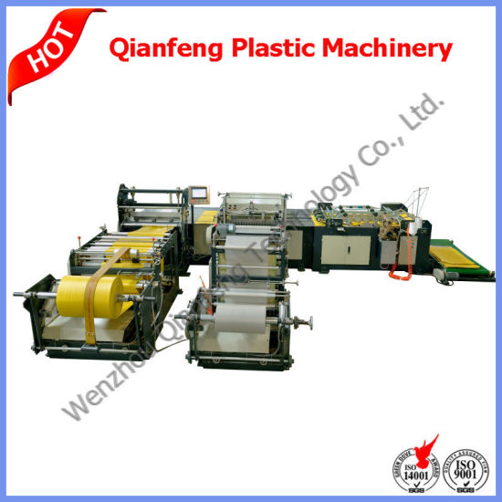 Automatic PE Film Liner Cutting Sewing Machine for PP Woven Bag/Sack